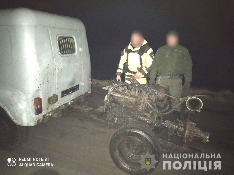 Поліція вилучила мотопомпу у Рівненському заповіднику