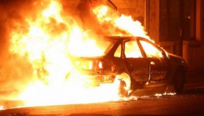 Вночі на 2 січня на Рівненщині згоріла іномарка